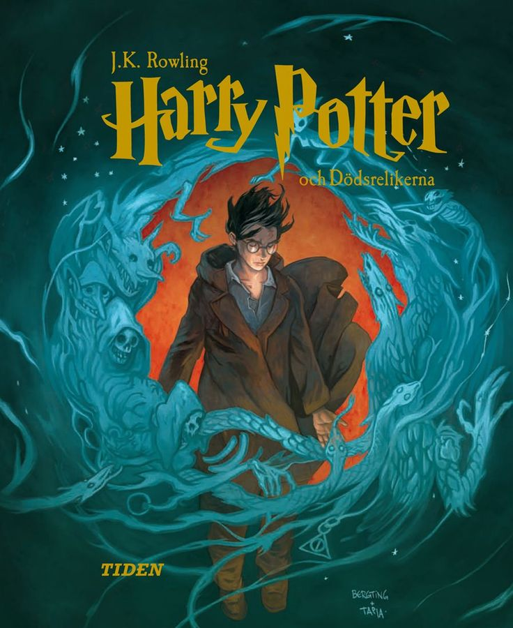 """The swedish cover for """"Harry Potter & the Deathly Hallows"""" = """"Harry Potter & Dödsrelikerna"""" by Alvaro Tapia ^^"""