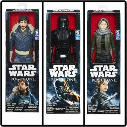 Disney Star Wars Action Figure Set Of 3 Jyn Erso Captain Cassian Death Trooper Toys New Original (unopened) 4+