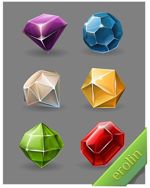 diamonds crystal, diamond icon design