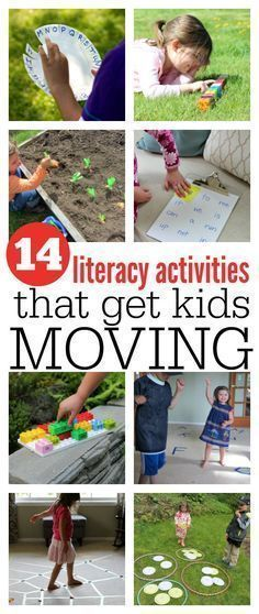 Get moving with these gross motor activities that work on literacy. These early literacy activities for kids no time for flash cards are great. #literacy #literacyideas