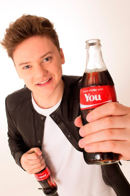 conor maynard with Coke <3 I WANT A COKE WITH MY NAME ON IT SO BAD!!!
