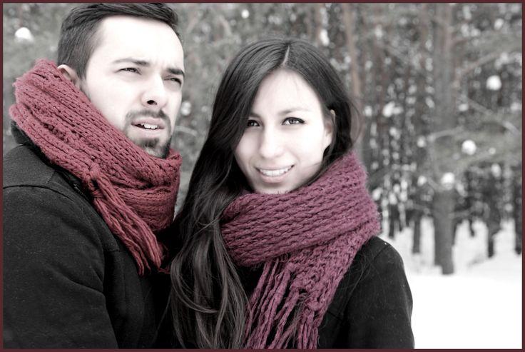 Models in winter.