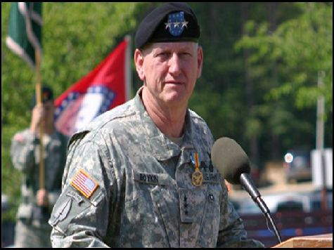 Three Star General:  Muslilm Brotherhood has infiltrated our government. U.S. Army Lieutenant General (Ret.) William Jerry Boykin claims that individuals with connections to the Muslim Brotherhood hold security clearances in both the Pentagon & the Department of Defense.