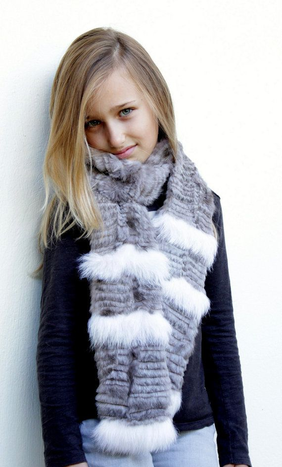 Handmade unique Fur scarf made with really soft rubbit fur for you or your little angels