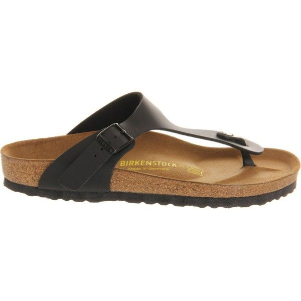 Birkenstock Ramses faux-leather sandals ($63) ❤ liked on Polyvore featuring shoes, sandals, vegan shoes, synthetic leather shoes, faux leather shoes, synthetic shoes and vegan leather sandals