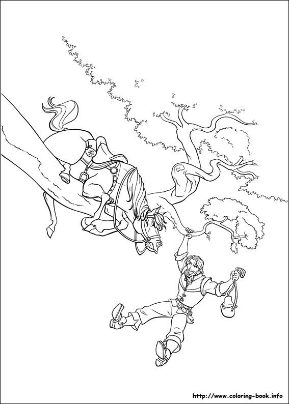 153 Best Tangled Colouring Pages Images On Pinterest Disney - tangled coloring pages pdf