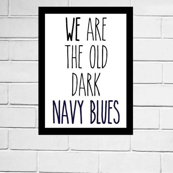 Carlton Blues FC - AFL club song print - Digital Download - All AFL clubs available
