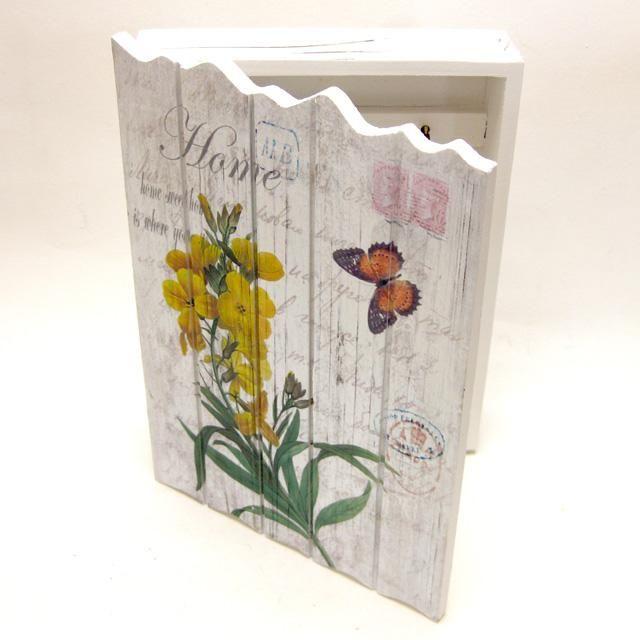Skříňka na klíče - květiny