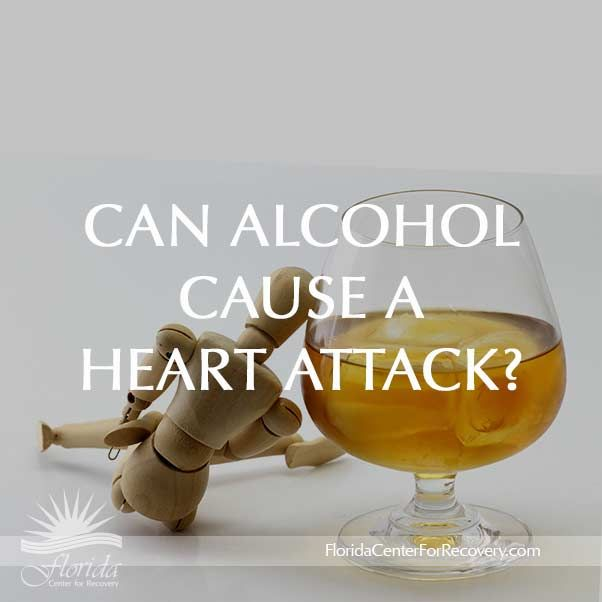 CAN ALCOHOL CAUSE A HEART ATTACK?  Alcohol directly influences excitation of myocytes (cardiac muscle cells), and therefore provokes arrhythmias and possibly, sudden cardiac death.