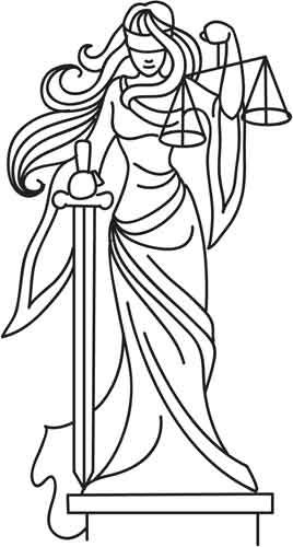 Lady Justice design (UTH3960) from UrbanThreads.com
