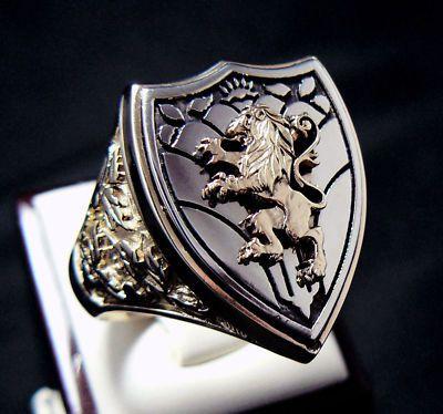 http://www.ebay.com/itm/ANTIQUE-ROYAL-LION-KNIGHT-CREST-14K-GOLD-MENS-RING-/220679177849 $2,350