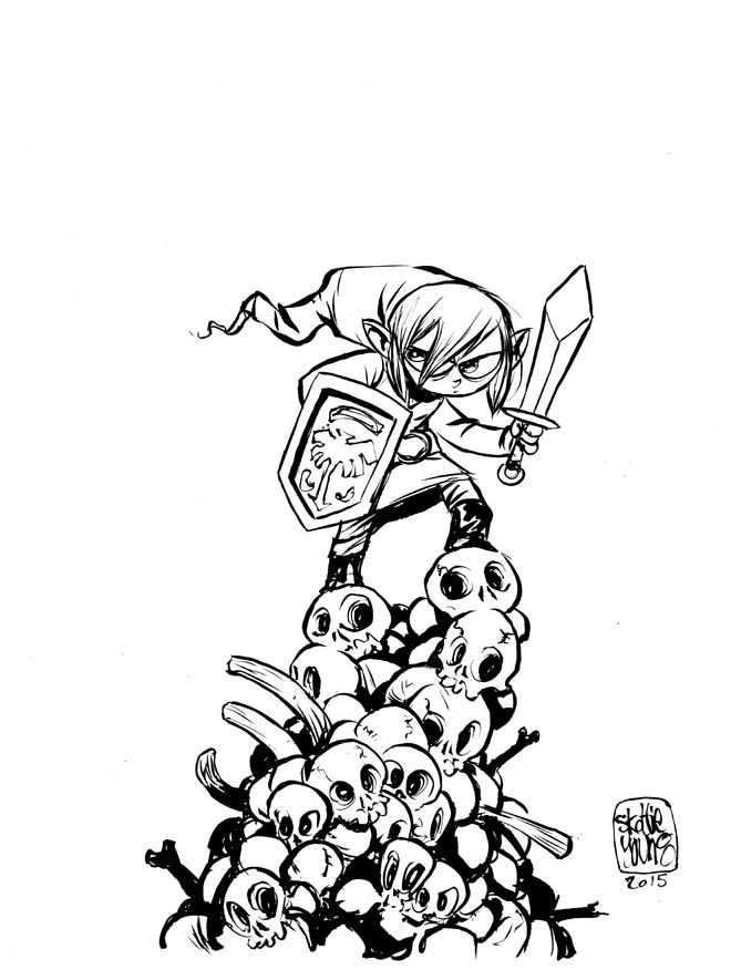 #DailySketch Link Original sketch available in my shop http://skottieyoungstore.bigcartel.com
