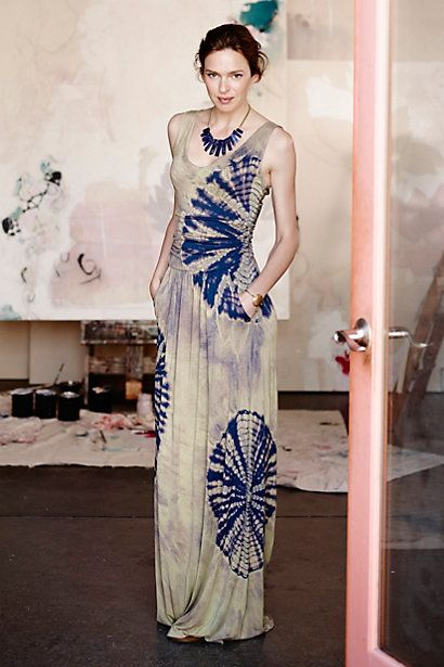 Anthropologie - Tidal maxi dress - Shibori