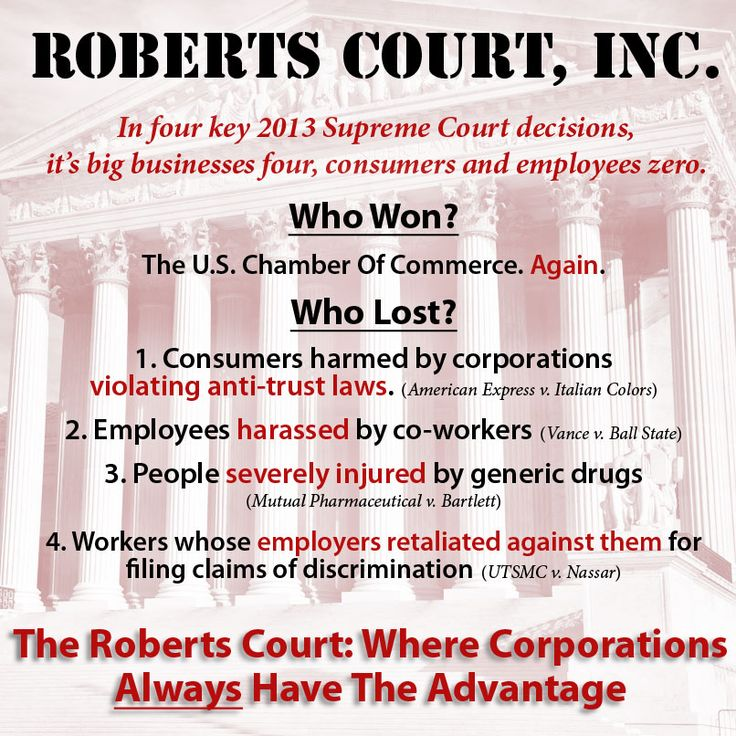 4 recent Supreme Court decisions where corporations won and employees, consumers paid dearly