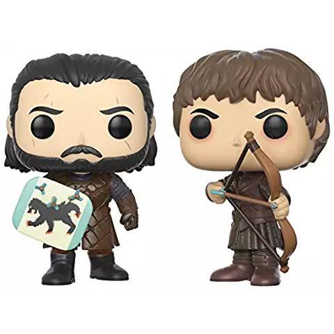 Funko Pop! TV: Juego de tronos (Game of Thrones): Batalla de los bastardos - Jon Snow & Ramsay Bolton Figura de vinilo