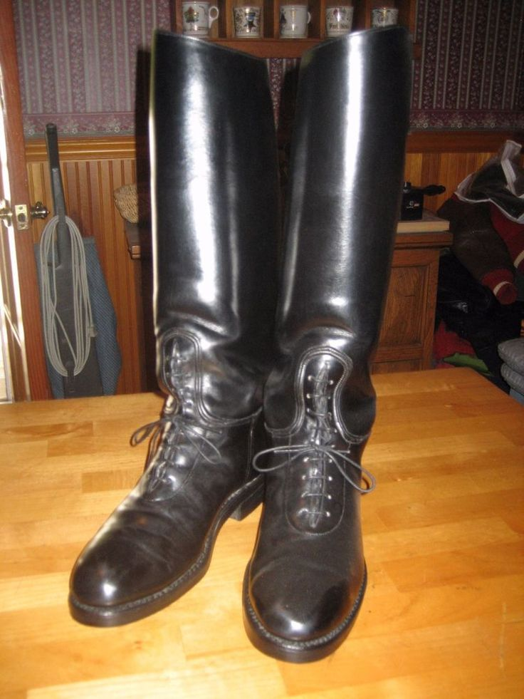 Cost 1000 dehner custom leather motorcycle cop chp boots Police motor boots