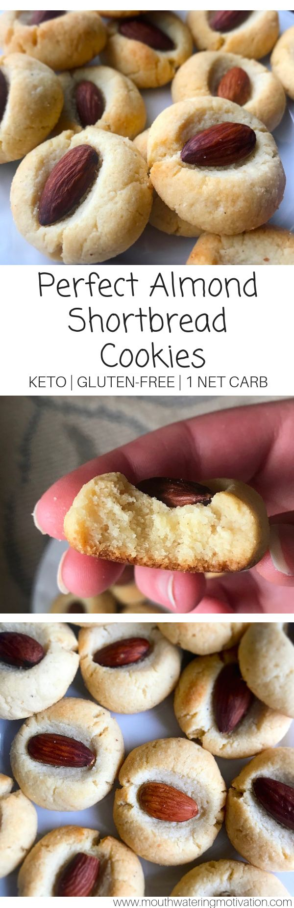 Perfect Almond Shortbread Cookies-KETO – Mouthwatering Motivation