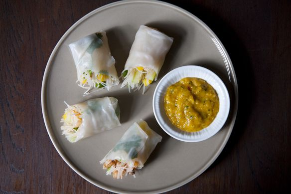 Cambodian-Style Spring Rolls (add some greens, tomatoes,cucumbers and ...