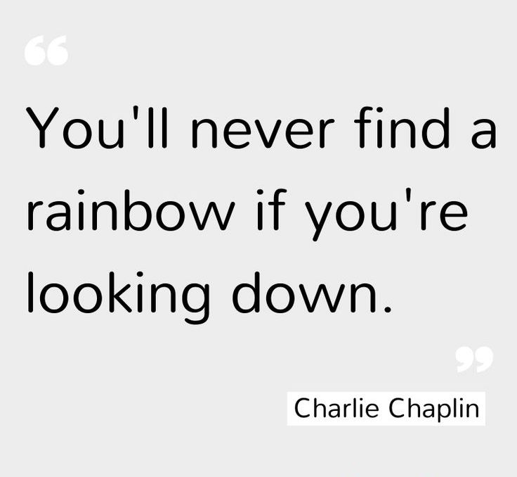 Charlie Chaplin (and you won't find rainbow clouds either...) ;)