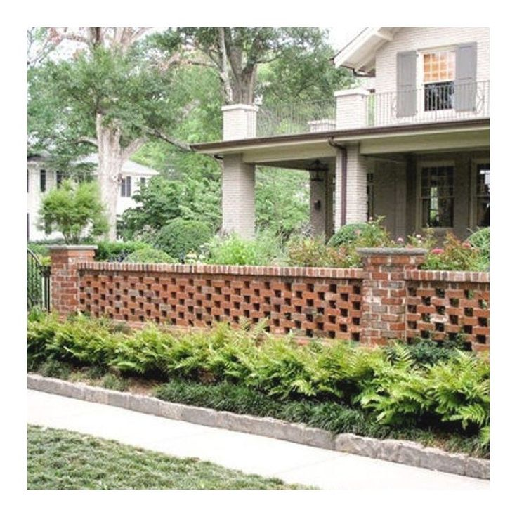 Outdoor Brick Fences Providing Privacy | 1000 - Modern ...