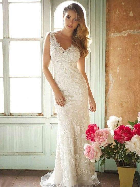 415 besten Bruidsjurken van kant Bilder auf Pinterest