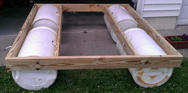 HOW TO BUILD A FLOATING DOCK Wow Just Add Small