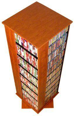 "Multi Media Tower - Revolving Cherry (Cherry) (63""H x24""W x24""D)"