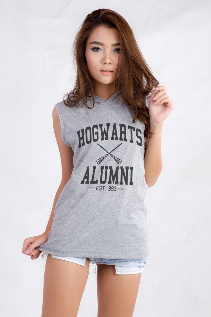 Harry Potter Hogwarts Alumni Outfits for Teen Girls Womne Fashion Graphic Print Hooded Muscle Tank Tee Shirt