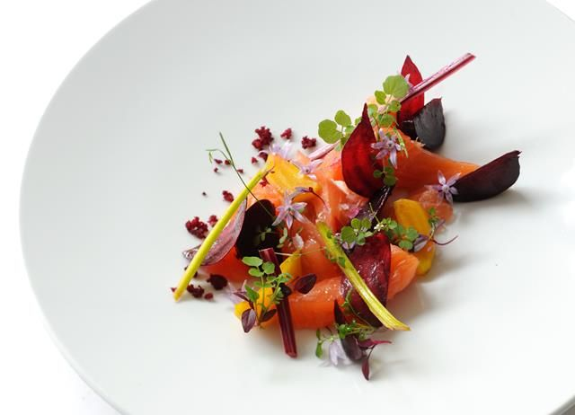 Salmon is prepared beautifully in this cured salmon recipe from Luke Holder. Mi cuit roughly means partially cooked, and is a great way to make salmon.