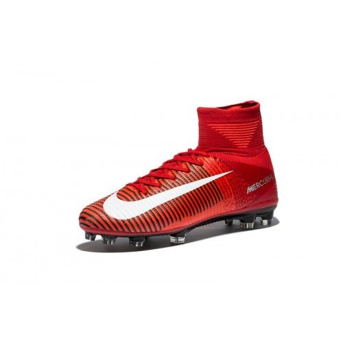 Pas Cher Acheter Nike Mercurial Superfly V FG Rouge Chaussures De Foot. Nike  Mercurial - Soldes.