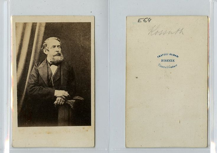 F. Alinari, L'homme politique hongrois Lajos Kossuth    #CDV #portraits #Hommes_politiques