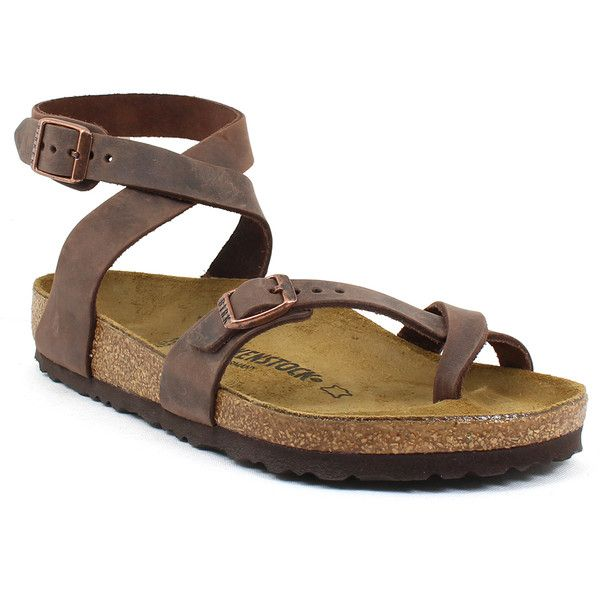 Birkenstock Women's Yara Habana - 36 M (5 - 5.5 Us M Women's) Shoes ($130) ❤ liked on Polyvore featuring shoes, sandals, mult, cork sandals, adjustable shoes, adjustable strap sandals, birkenstock and birkenstock footwear