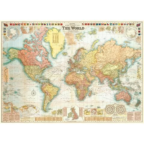 46 best vintage poster prints images on pinterest poster prints detailed world map vintage style poster retro planet gumiabroncs Choice Image