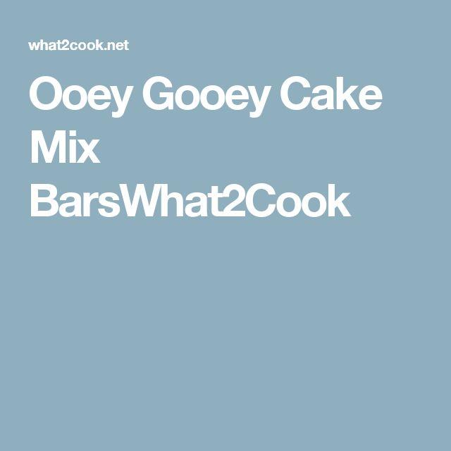 Ooey Gooey Cake Mix BarsWhat2Cook