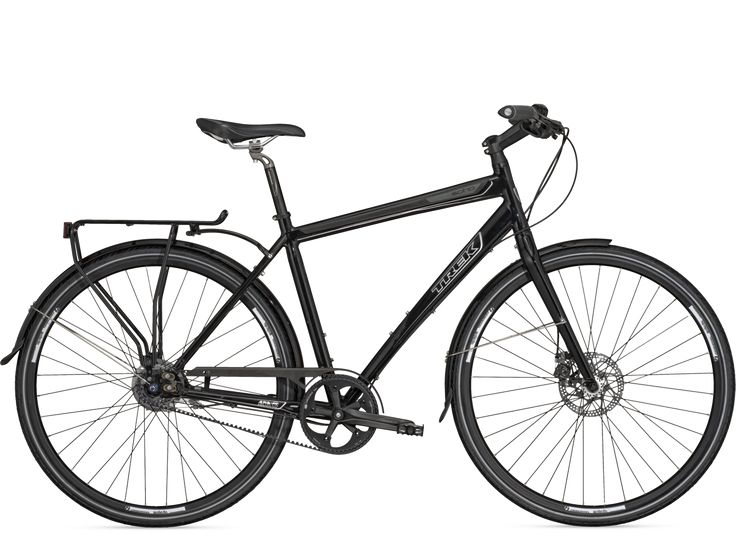 Trek Soho Deluxe. With a Gates carbon belt drive, disc brakes and a Shimano 8-speed internal hub, this is getting pretty close to urban bike perfection.