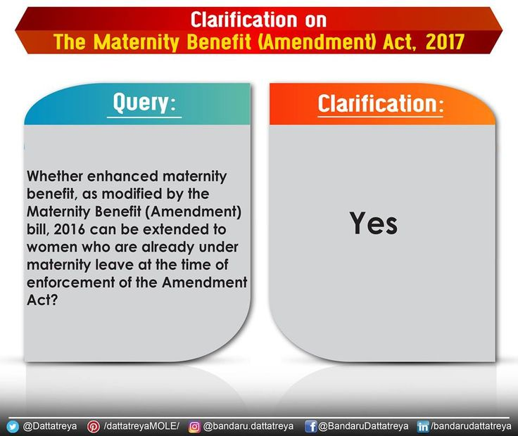 Yes, Maternity Benefit can be extended to the women who are already under maternity leave at the time of enforcement of the Maternity Benefit (Amendment) Act, 2017. #MaternityBenefit Press Information Bureau - PIB, Government of India PMO India Bharatiya Janata Party (BJP) Ministry of Information & Broadcasting, Government of India