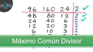 Resultado de imagen para maximo comun divisor