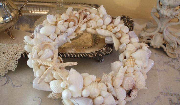 My Romantic Home: How To Make a Seashell Wreath