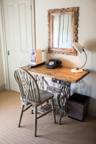 Painted sewing machine table
