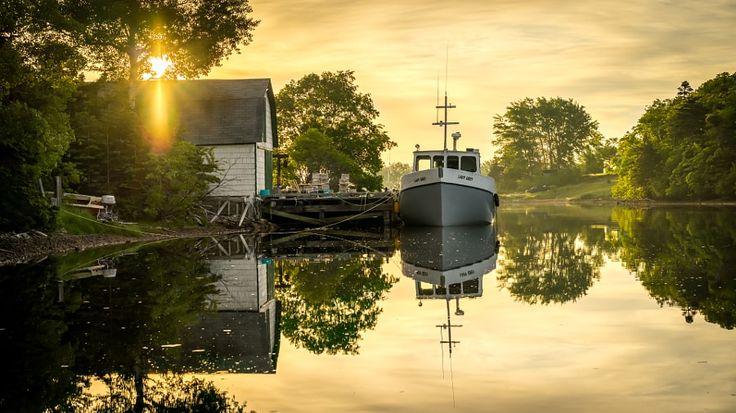 ***Dingwall Harbor in the still of the morning (Nova Scotia) by Jon Bush / 500px