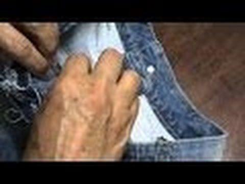 Vídeo aula Ajustar atraz da bermuda jeans ( Parte 3 e final) - YouTube