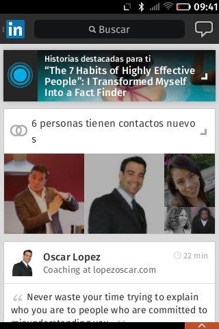 LinkedIn corre de manera excelente en navegadores móviles - #firefox #firefoxOS