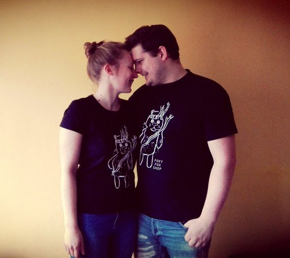 This t - shirt was created as an gift for me and my friend to celebrate Valentines.  T - shirt design is hand-drawn. On the t-shirt you can seen Mr.