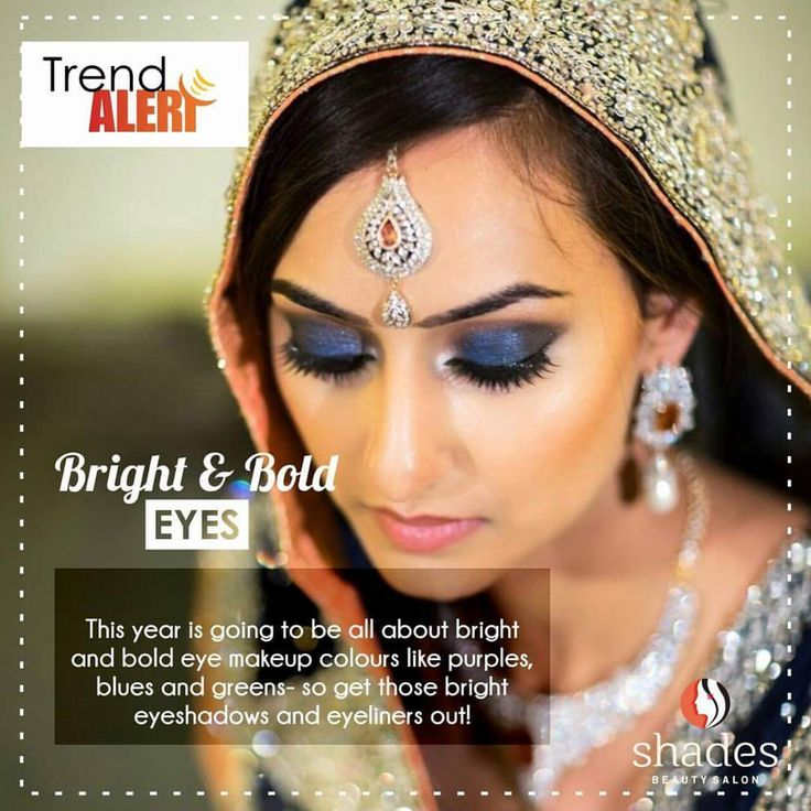 ◆Trend Alert◆ Bold EyeShadows to glamourise the Eyes.. #shadesbeautysalon #makeup #makeuptrends #bold #blue #green #purple #highlights #makeuptricks #makeuptransformation #makeupartist #shikhaholkar