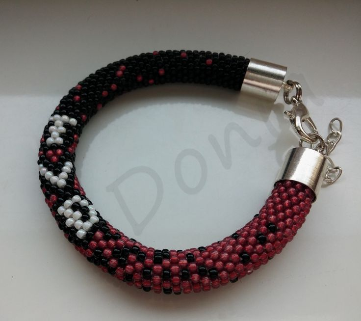 Bead Crochet Bracelet - The Vampire Diaries Edition
