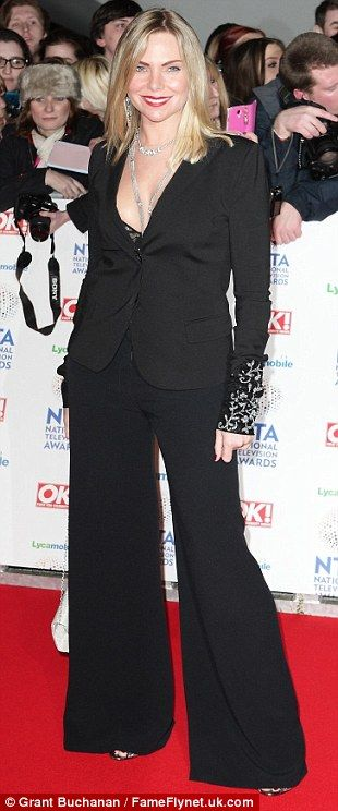 Samantha Womack opted for black at NTA's