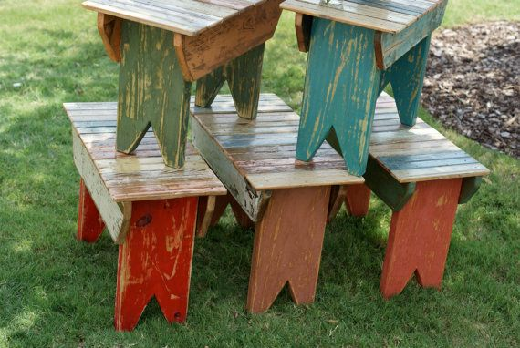 Reclaimed Bead Board Small Wooden Bench by shopoliviacharles, $85.00