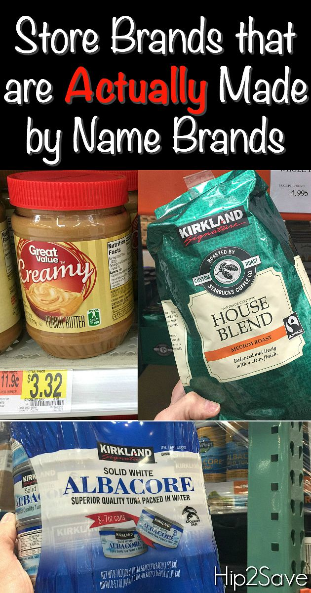 Did you know that you can purchase store brand items at a fraction of the cost and many are actually made by the name-brand companies?!