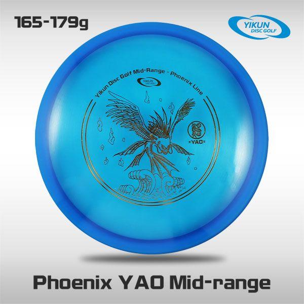 Professional Yikun Disc Golf Mid-range Phoenix Line YAO PDGA Approved Premium Plastic