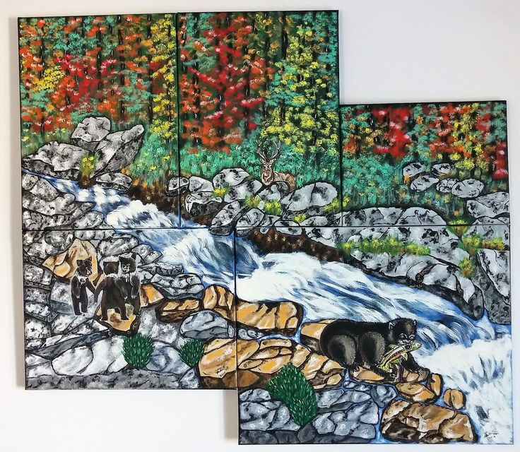 rivieres aux ours 5 toiles 36x32